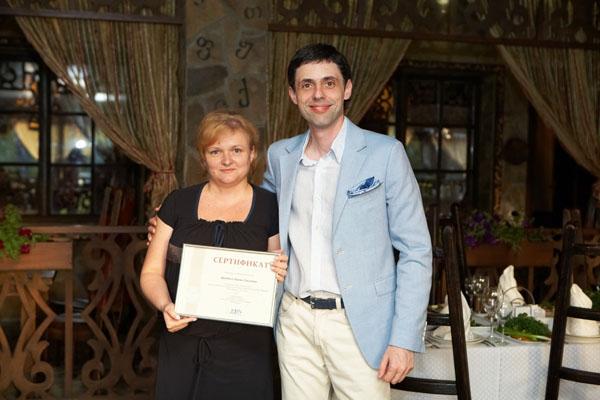 Ирина Щербина, владелица «Ситес-секьюрити», с Владиславом Бурдой, президентом FBN Ukraine