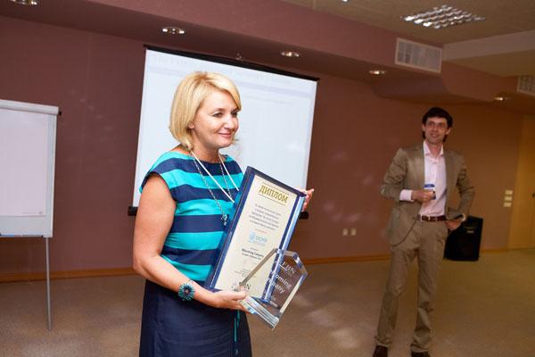 Ирина Варагаш, президент компании «Эконiя», с наградой Welcoming Company от FBN Ukraine