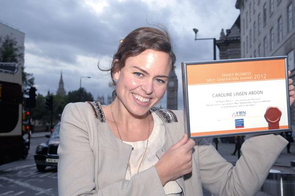 Каролин Абдон, основатель и CEO компании Private in Public (Швеция), обладатель награды FBN Next Generation Honors